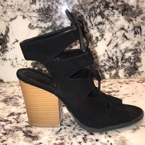 Charlotte Russe lace-up block heels